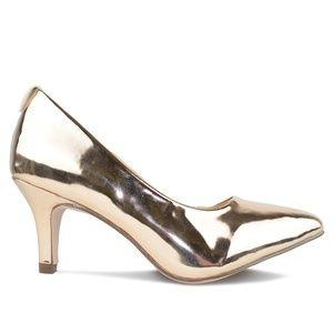 ⭐️ Women's ROSE GOLD Kitten Heel Pump